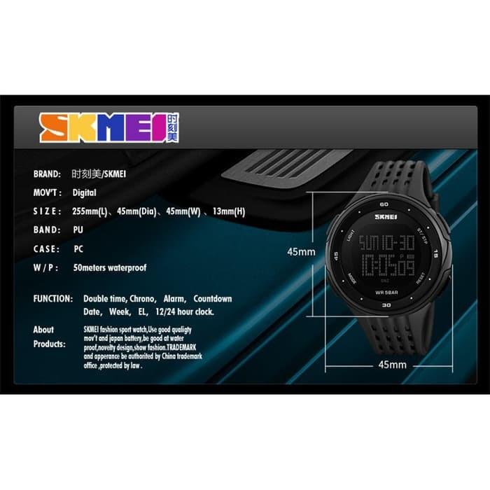 jual Jam Tangan Sport SKMEI 1219 Original Water Resistant 50M - Silver