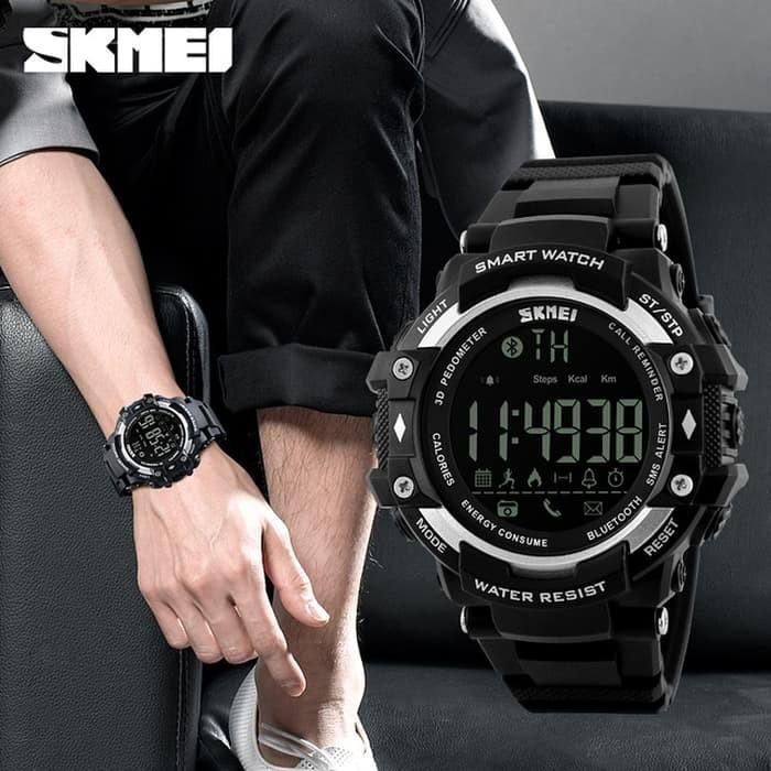 jual Smart Watch SKMEI 1226 Bluetooth Pedometer Water Resist 50M - Silver