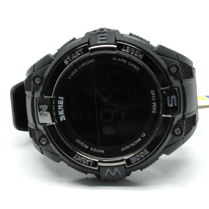jual SKMEI Sport Watch 1140 Original Water Resistant 50M - Black Black