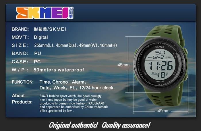 jual SKMEI 1167 Jam Tangan Original Water Resistant 50M / Model SUUNTO CORE