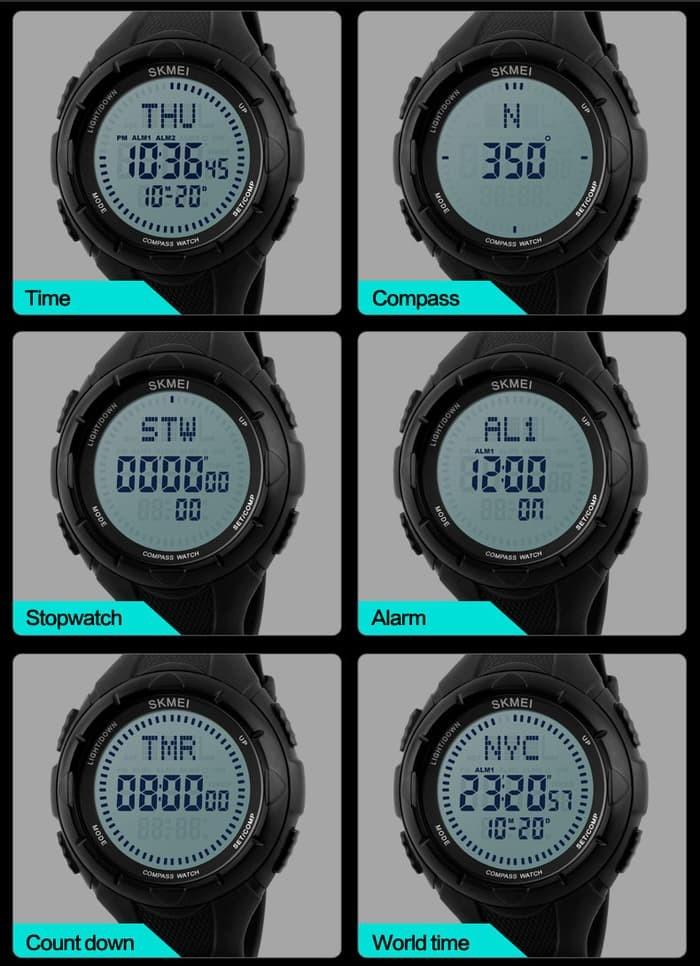 jual Jam Tangan Sport Outdoor SKMEI Compass 1232 Original Water Resist 50M