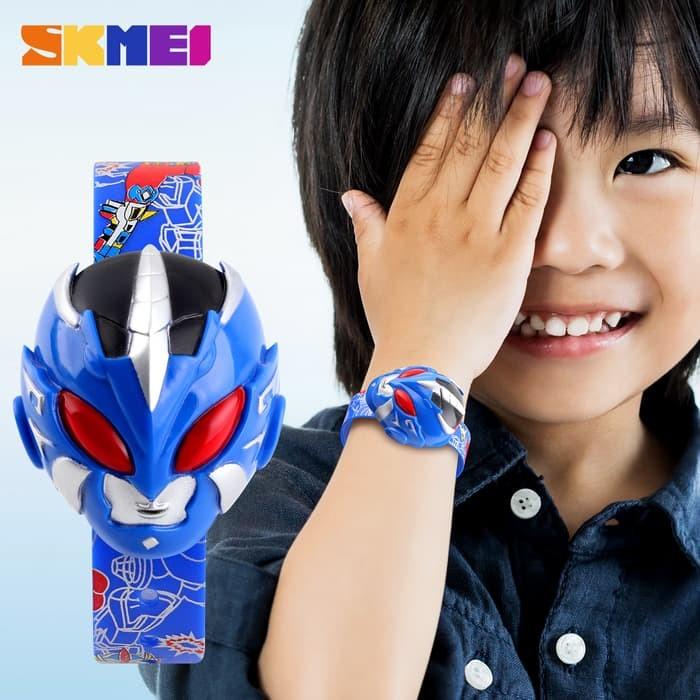 jual Jam Tangan Anak Anak Cowok Superhero SKMEI 1239 Original Murah - Biru