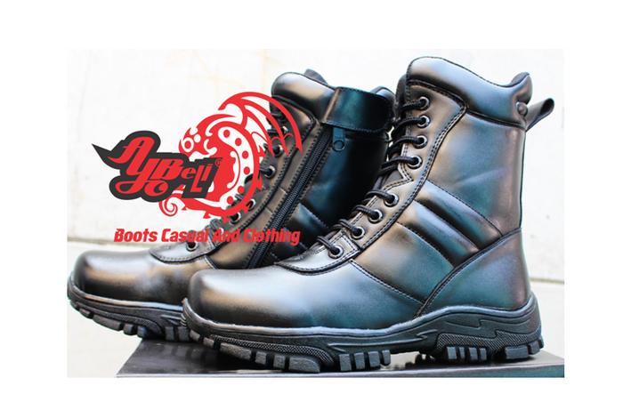 jual Sepatu DELTA - PDL - PDH -Sepatu Boot Pria - Sepatu Kickers - Hitam, 46