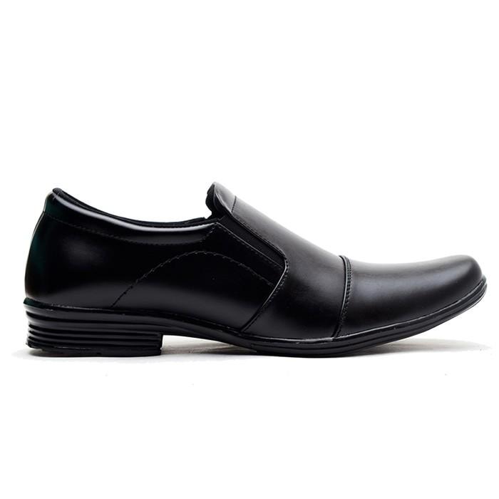 jual Sepatu Kerja Pantofel Kantor Formal Pria Kulit Murah Berkualitas JT100 - Hitam, 38