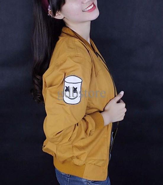 jual JAKET BOMBER WANITA Kuning  Jaket Mustard  Jaket Wanita