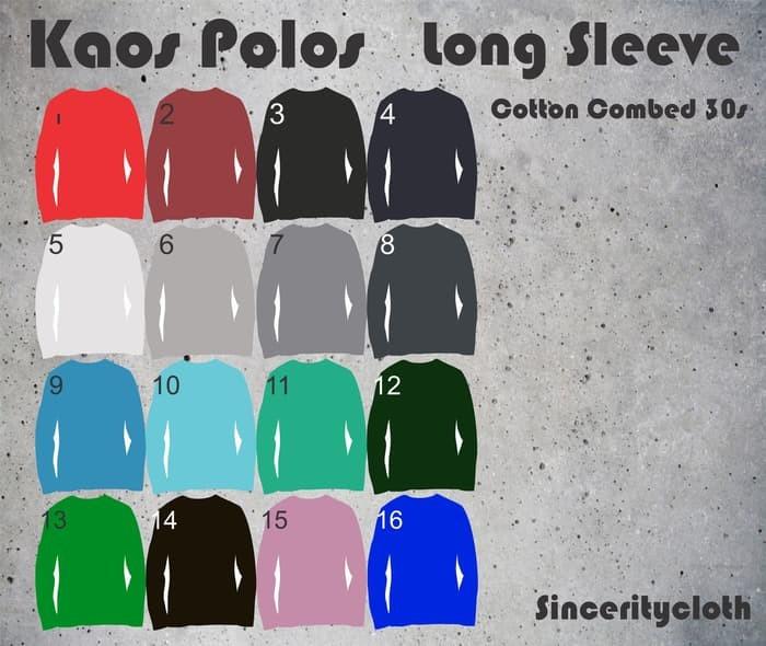 jual Kaos Polos Cotton Combed 30s Long Sleeve Size XL