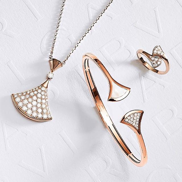 Divas' Dream jewels in rose gold and diamonds. Creative shot.