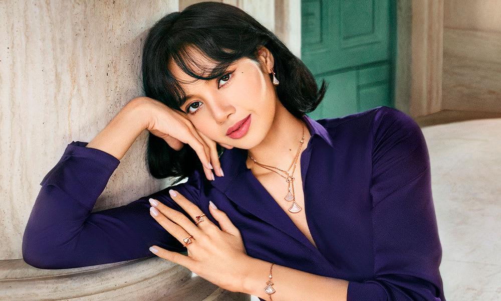 Model wearing Divas Dream Jewellery.
