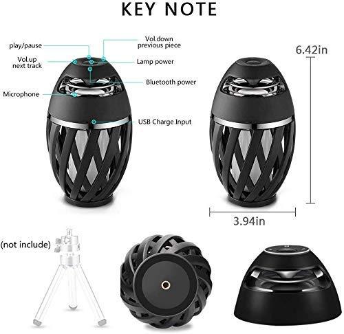 Led Flame Speaker, Torch Atmosphere Bluetooth Speakers&Outdoor Portable Stereo Speaker