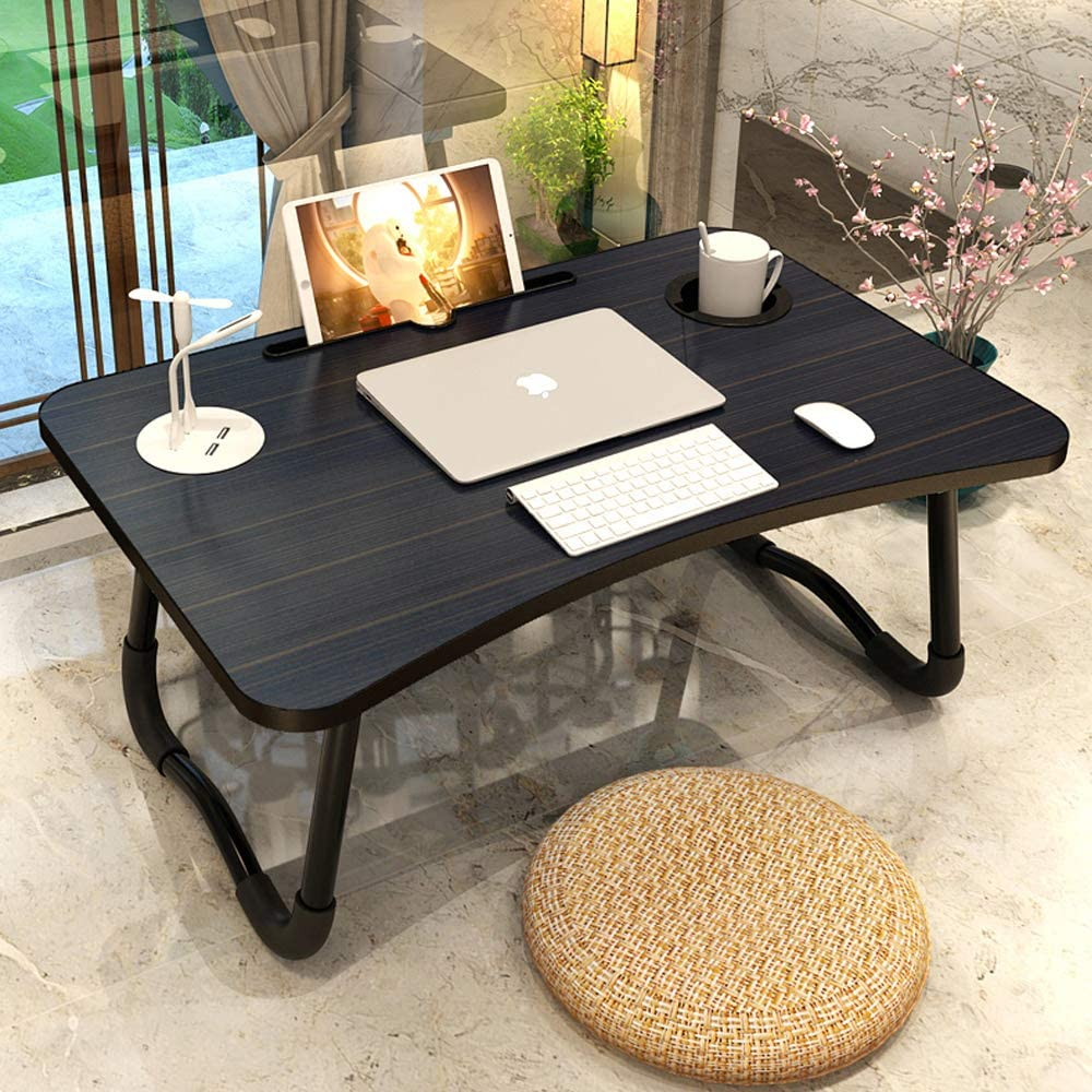 Laptop Desk Multi-Function Laptop Bed Table Stand Lap Desk with USB/Cup Holder for Bed Couch Sofa wi