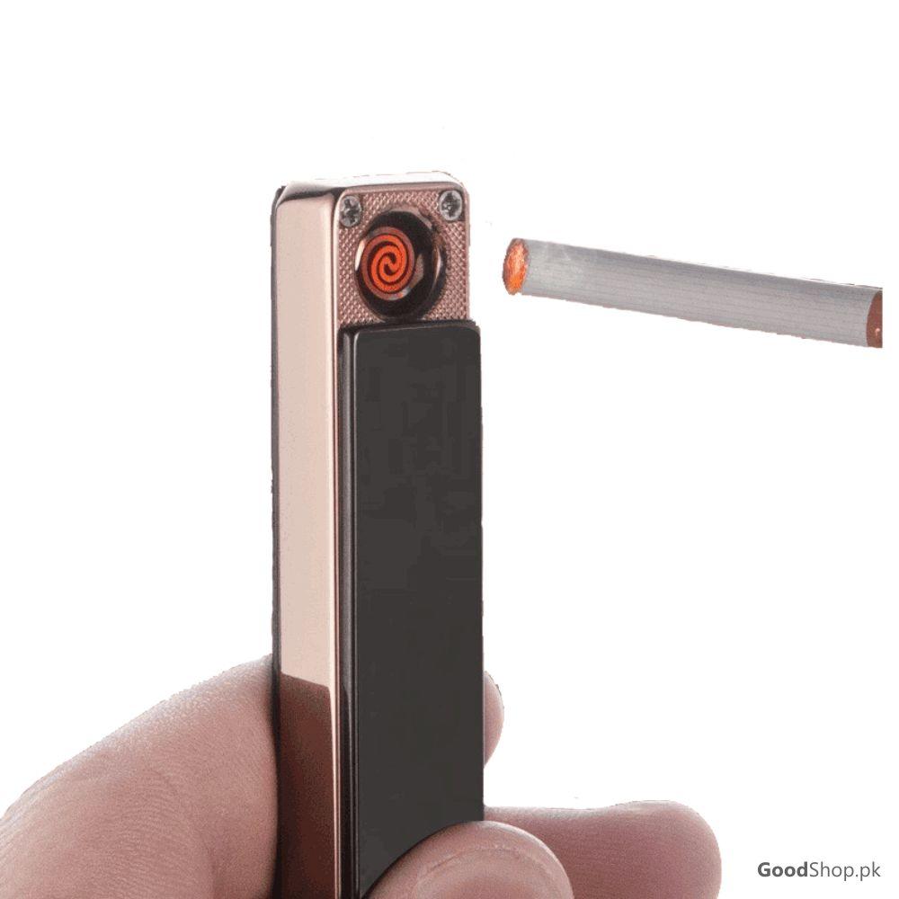 USB Electronic Lighter Portable Flameless Cigarette Lighter  (Black)