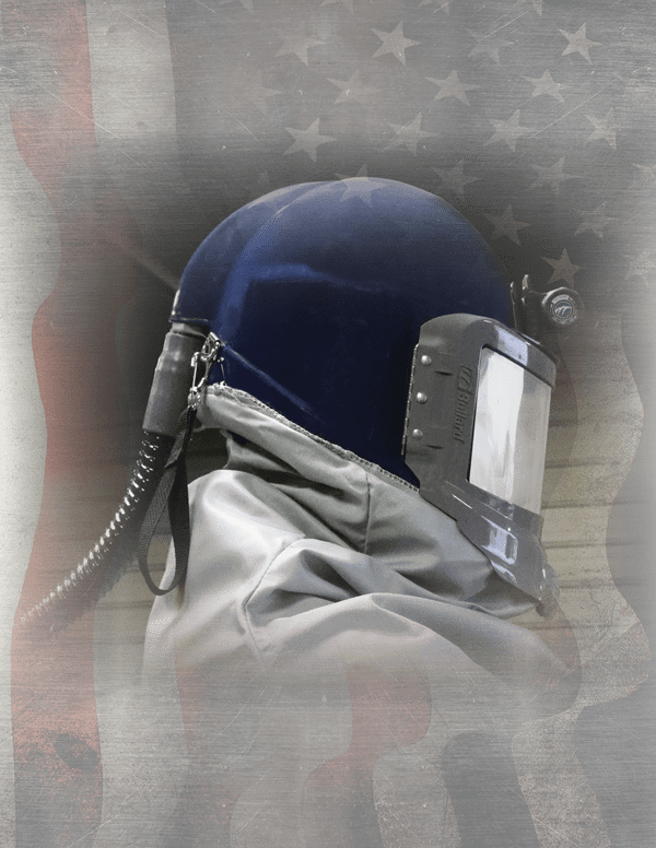 GVX Blue Helmet with American flag
