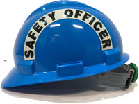 S61 Blue Safety Officer Sticker