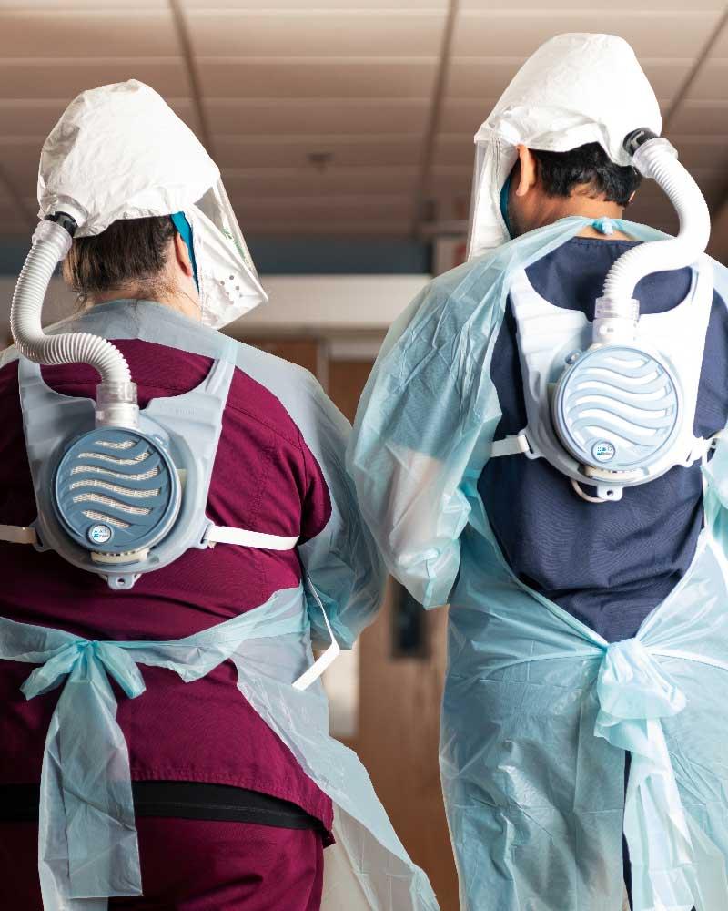 SalusHC Doctor & Nurse Hallway Closeup