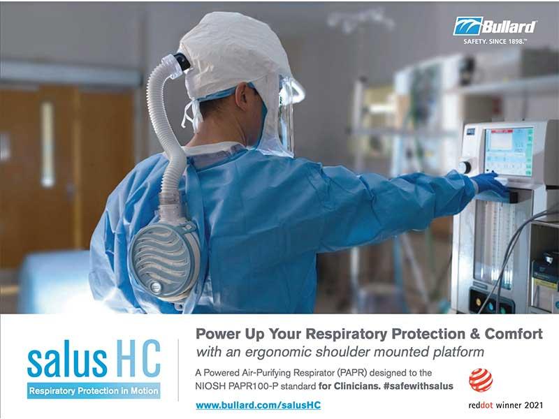 BULLARD INTRODUCES SALUS-HC POWERED AIR-PURIFYING RESPIRATOR (PAPR)