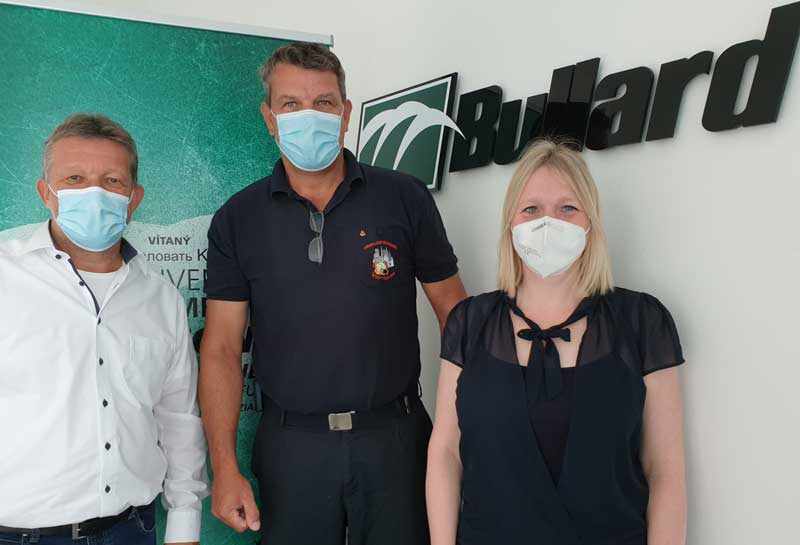 Bullard provides relief to floods devastated Fire Brigades in Germany