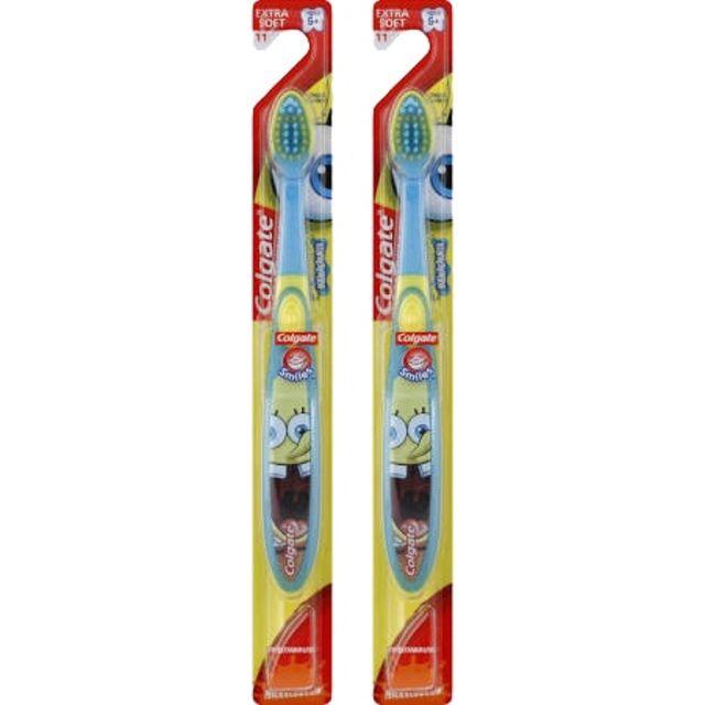Colgate SpongeBob Toothbrush, (2 brushes)