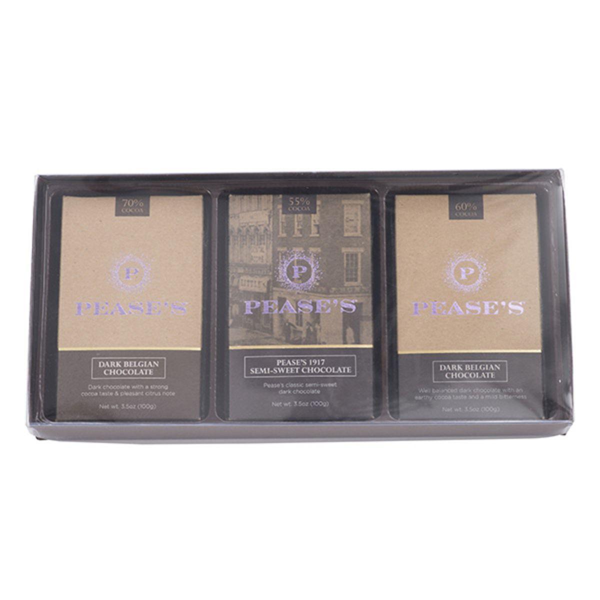 Pease's Dark Chocolate Bars - Variety 3PK
