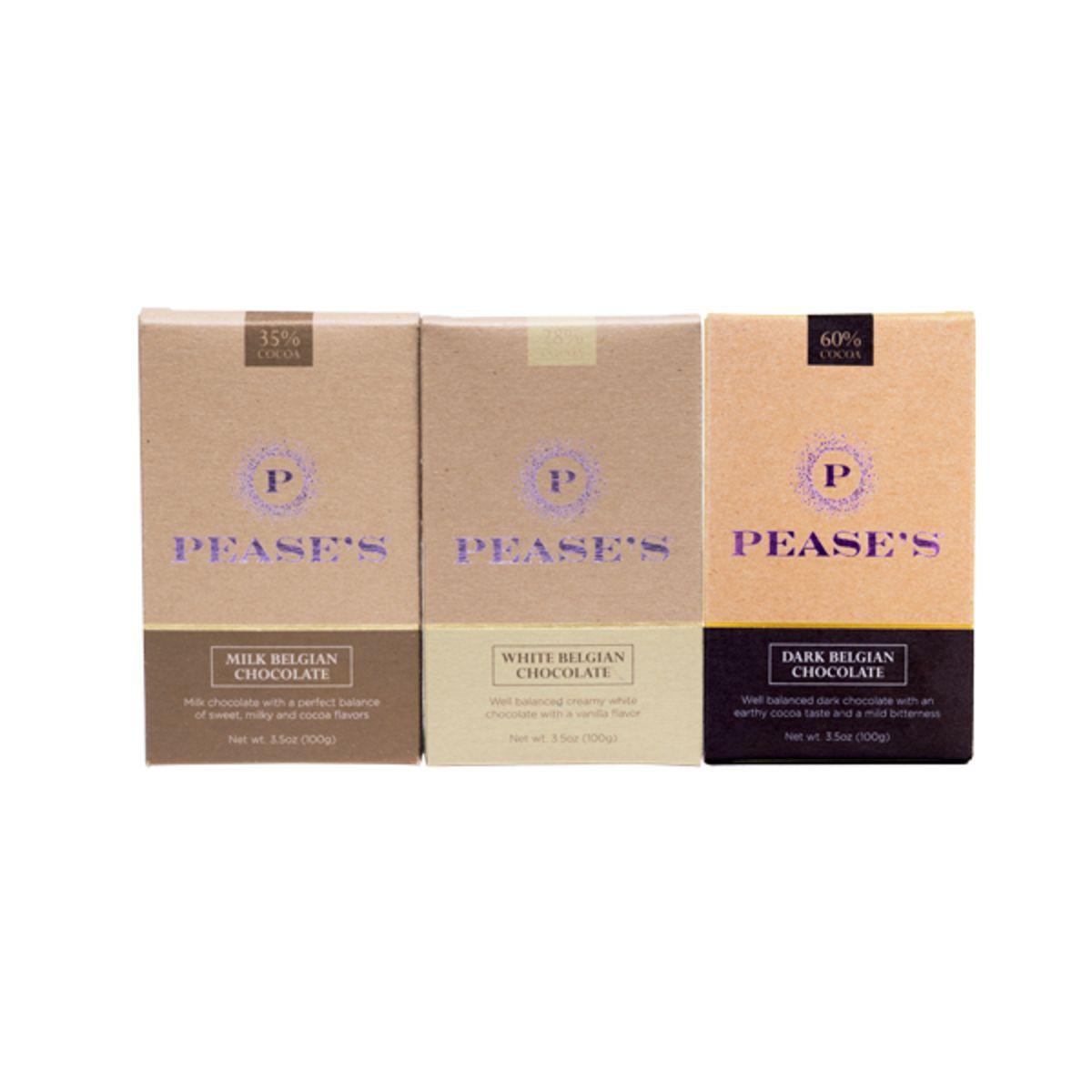 Pease's Belgian Chocolate Bars - Variety 3PK