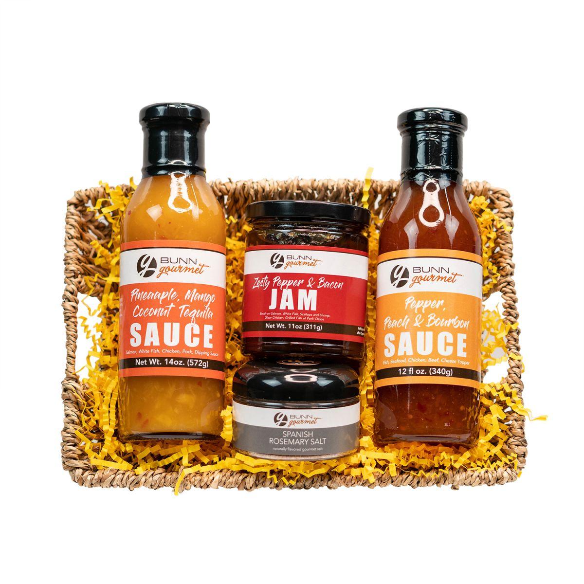 Gourmet Sauces  and Salt Gift Basket