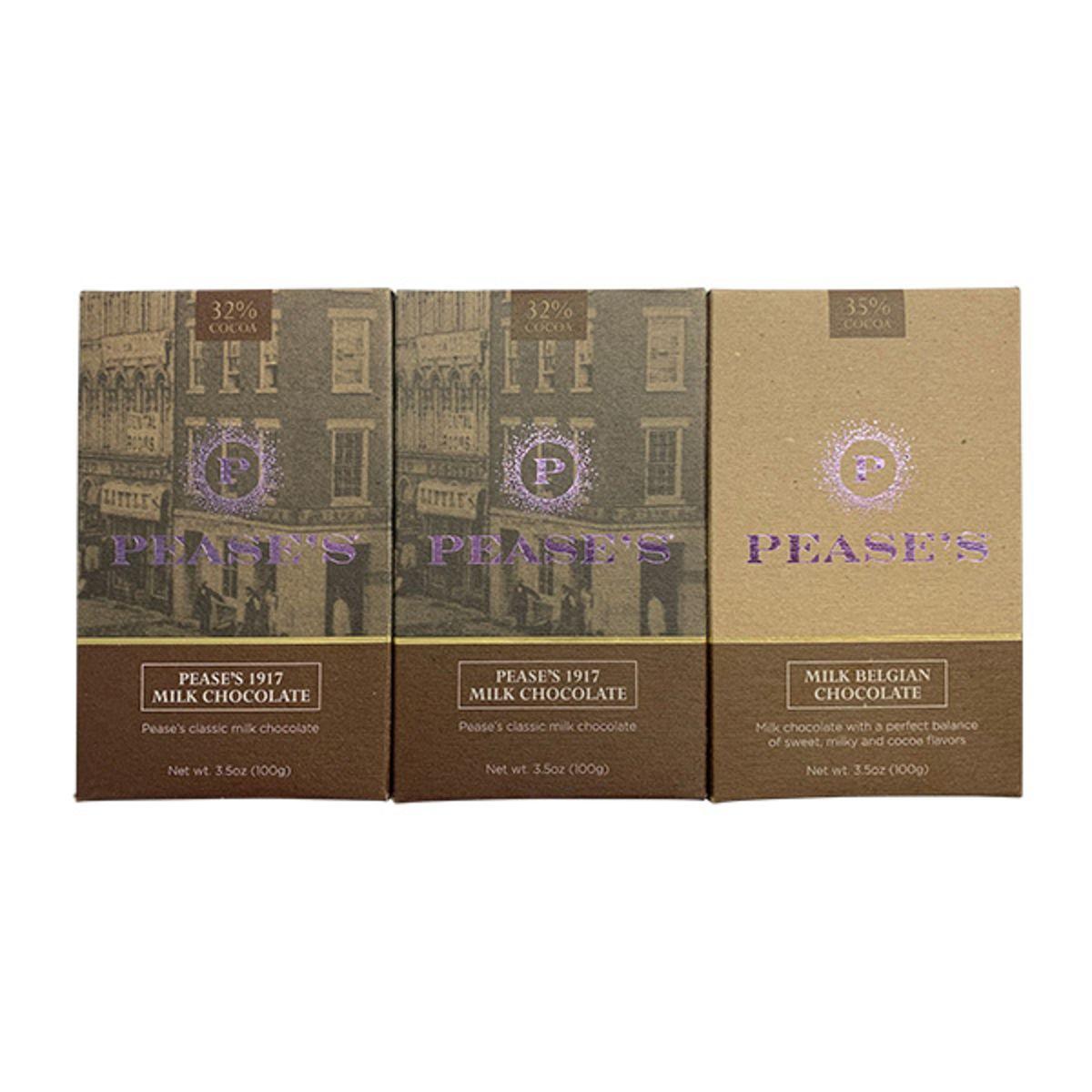Pease's Milk Chocolate Bars - Variety 3PK