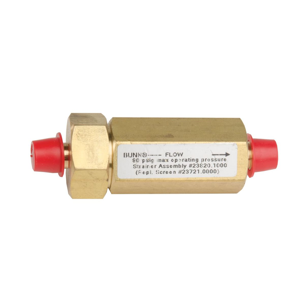 WATER STRAINER,W/CAP.250 FLARE