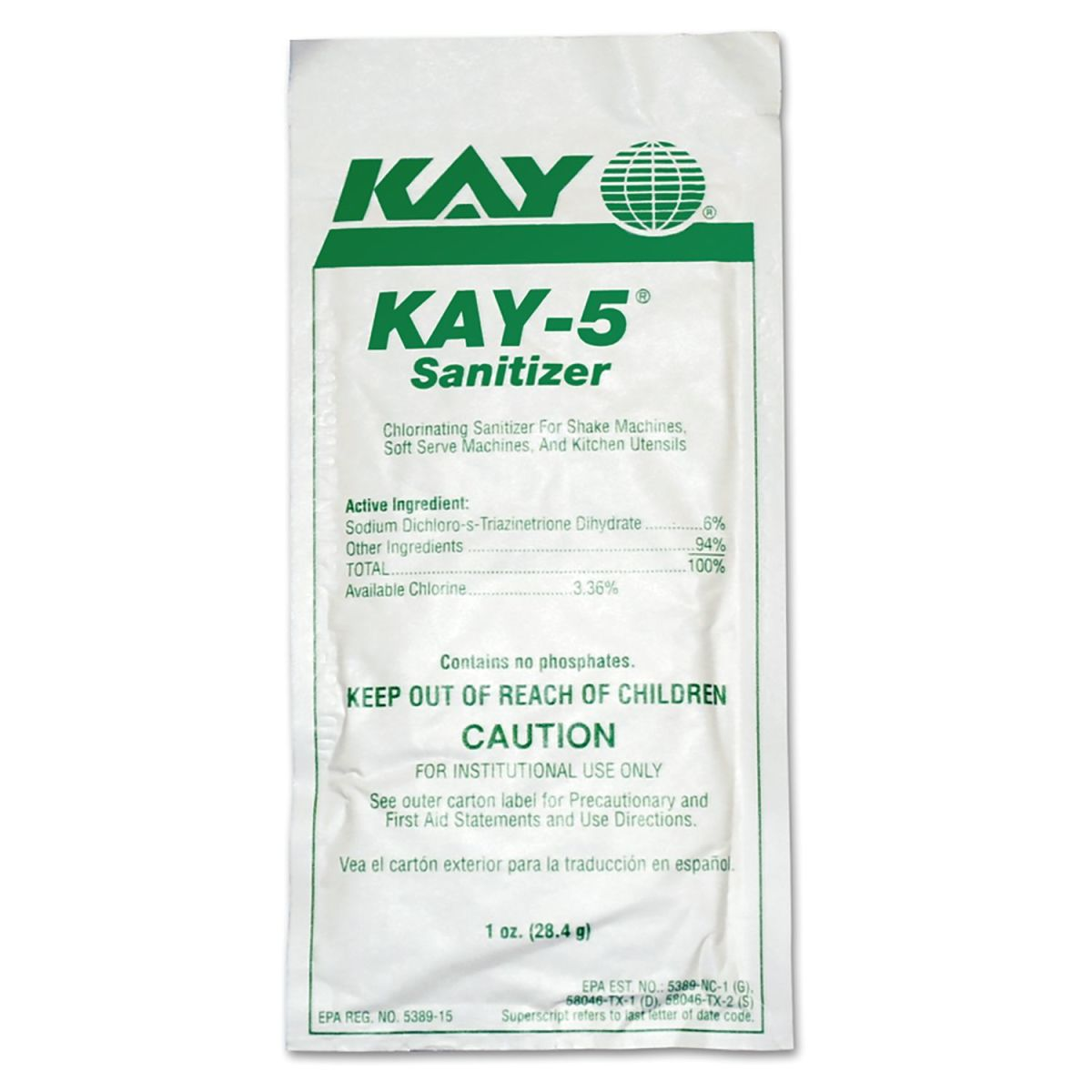SANITIZER,KAY-5(BOX-50 PKTS)