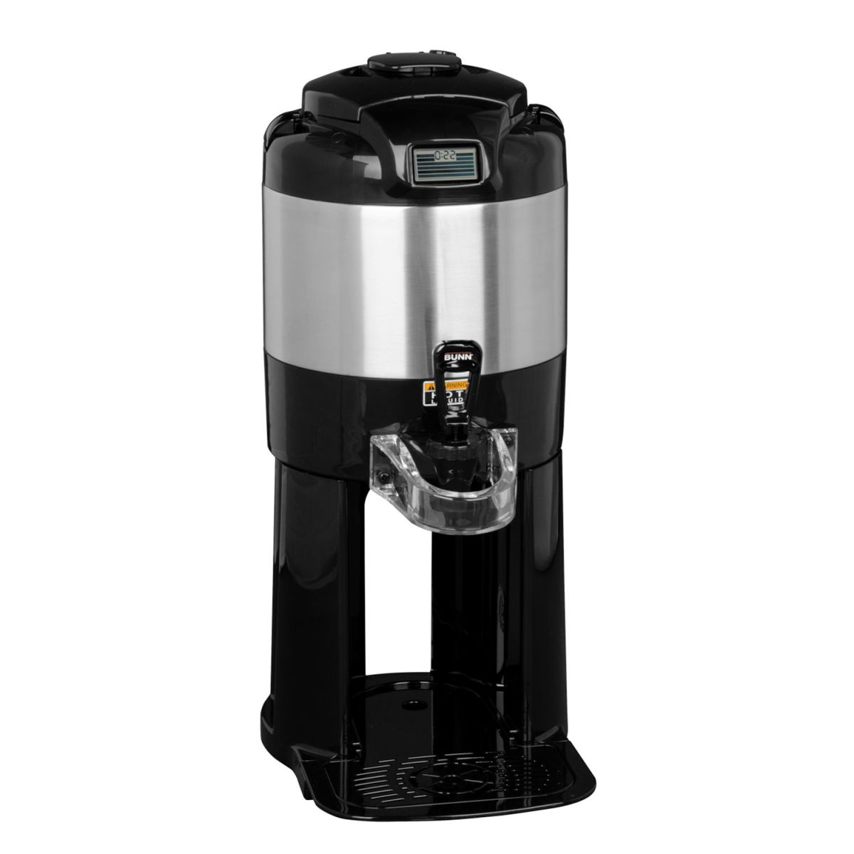 1Gal(3.8L) TF Server -with Base- Digital Sight Gauge, Stainless Steel