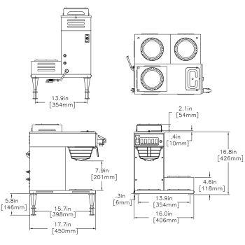 CWTF-DV-3 Dual Volt (3 Lower Warmers)