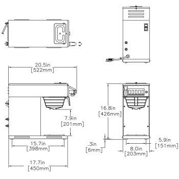 CWTF15-1, Plastic Funnel (1 Lower Warmer)