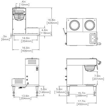 CWTF-DV-3L Dual Volt (3 Lower Warmers)