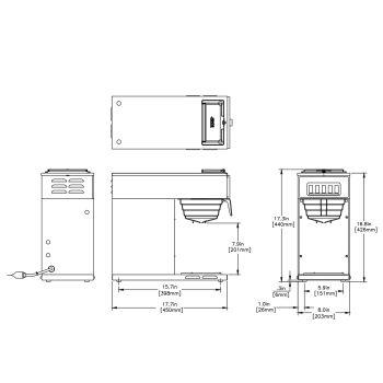 VP17-1, Stainless (1 Lower Warmer)