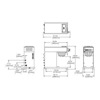 CWTF-DV-TC Dual Volt, Thermal Carafe System