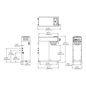 CWTFA35-APS Airpot System, Plastic Funnel, ME, CE 220-240V