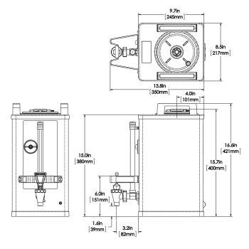 1.5Gal(5.7L) SH Server, Stainless Steel - 240 Minute