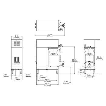 Single® GPR DBC® DV with 1.5 Gal Server