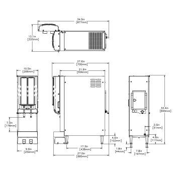 JDF-2S 120V Lit Two Segment Graphic Door PH with Door Lock