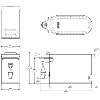 TDO-N-2.0 Low Profile Disp w/Solid Lid