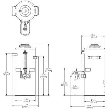 1.5Gal ( 5.7L) Titan® TF ThermoFresh® Server