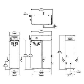 ICB-DV, Tall, Dual Volt 120V w/Display Group