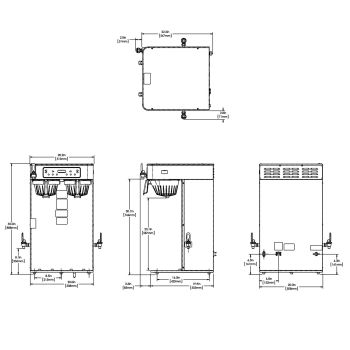 ICB Twin Tall, 120/240V Stainless Steel