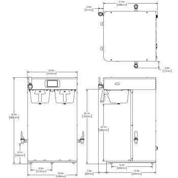ICB Twin Tall Platinum Edition™, 120/240V SST