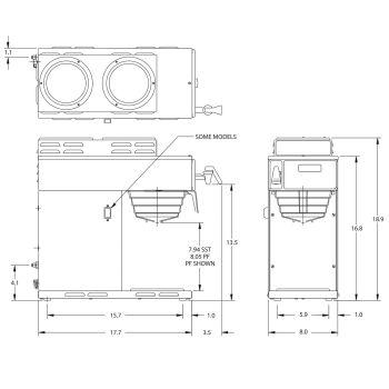 AXIOM® DV-3 Dual Volt (2 Upper/1 Lower Warmer)