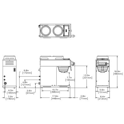 CWTF-DV-3T Dual Volt (2 Upper/1 Lower Warmer)