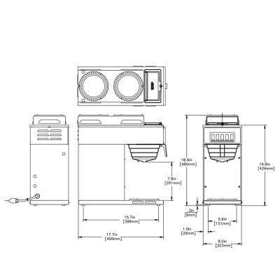 VP17-3, Stainless (2 Upper/1 Lower Warmer)