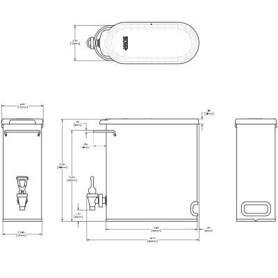 TDO-N-3.5 Low Profile Disp w/Solid Lid