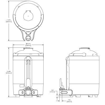 1.5Gal(5.7L) TF Server -no Base- Mechanical Sight Gauge, GEN3