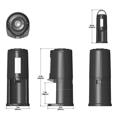 84.5oz(2.5L) TS Tall Black, with Base, Stainless Liner