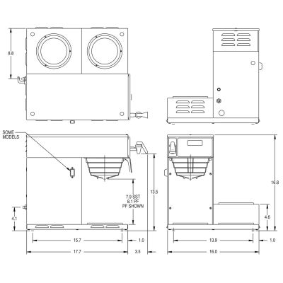 AXIOM® DV-3 (2 Upper/1 Lower Warmer) Dual Volt