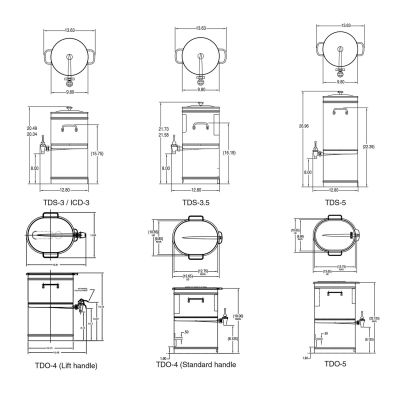 TDO-4 Dispenser w/Solid Lid